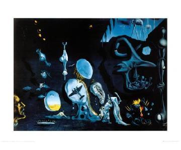 Salvador Dali Wood Mounted Print - Idylle Atomique