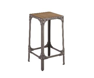 Industrial Style Counter Height Stool in Brown/Gunmetal