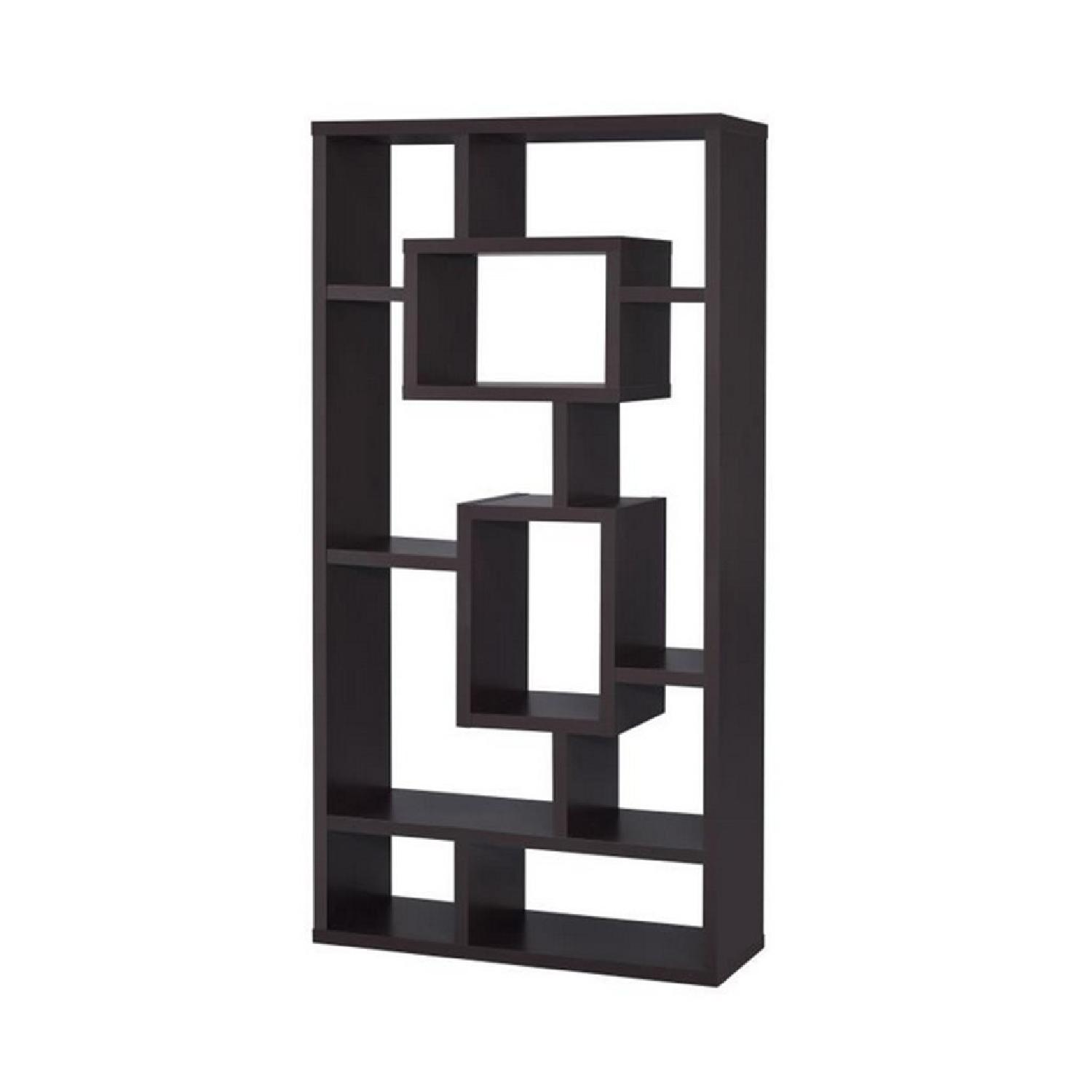 Bookcase Display Cabinet in Black Finish