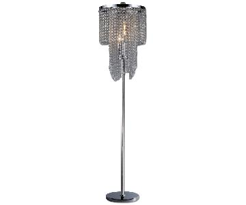 Warehouse of Tiffany's Diana Crystal Floor Lamp Chandelier