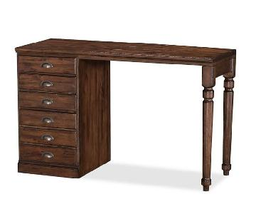 Pottery Barn Printer's Small Desk in Tuscan Chestnut Stain