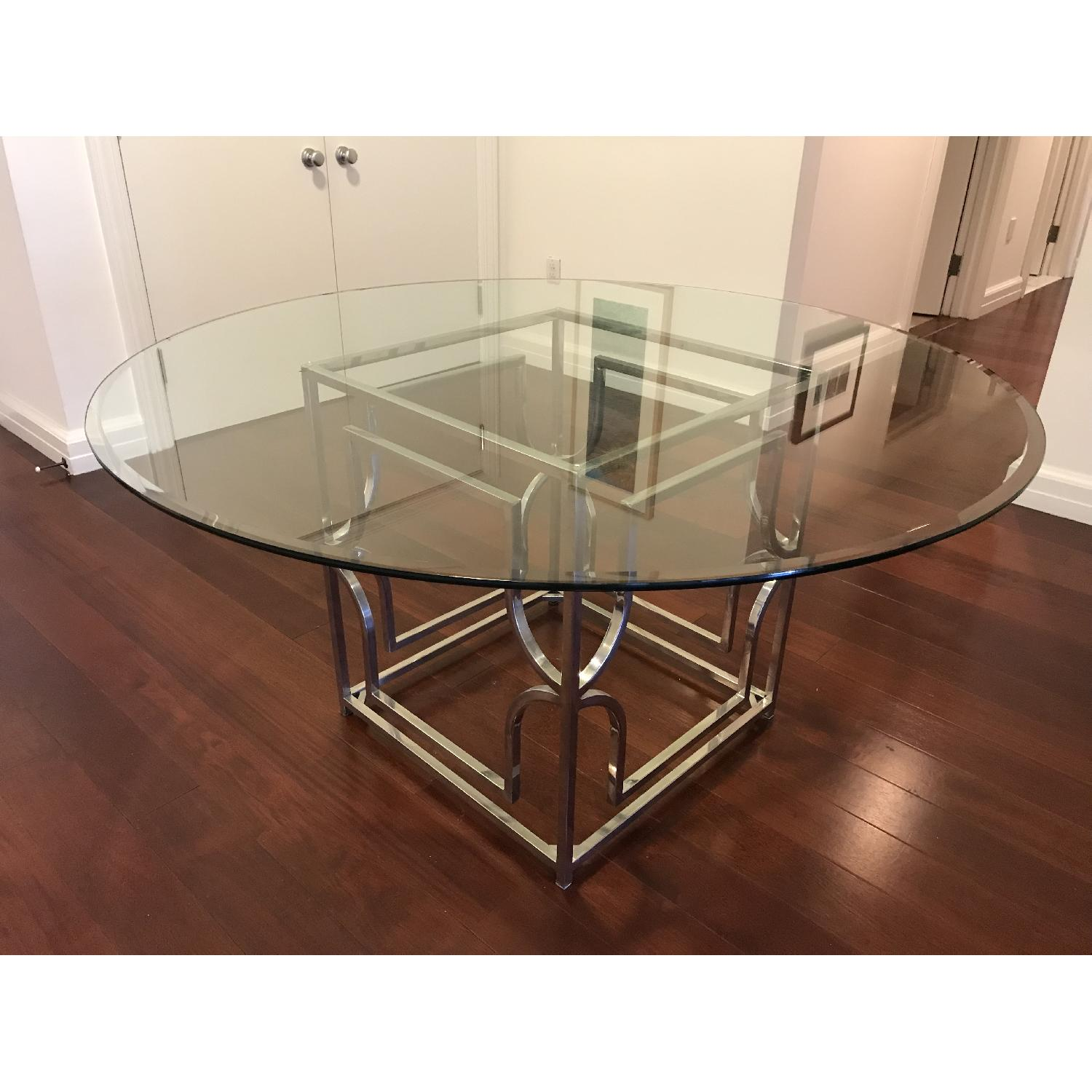 Z gallerie glass chrome dining table aptdeco for Table 6 3 asce 7 05