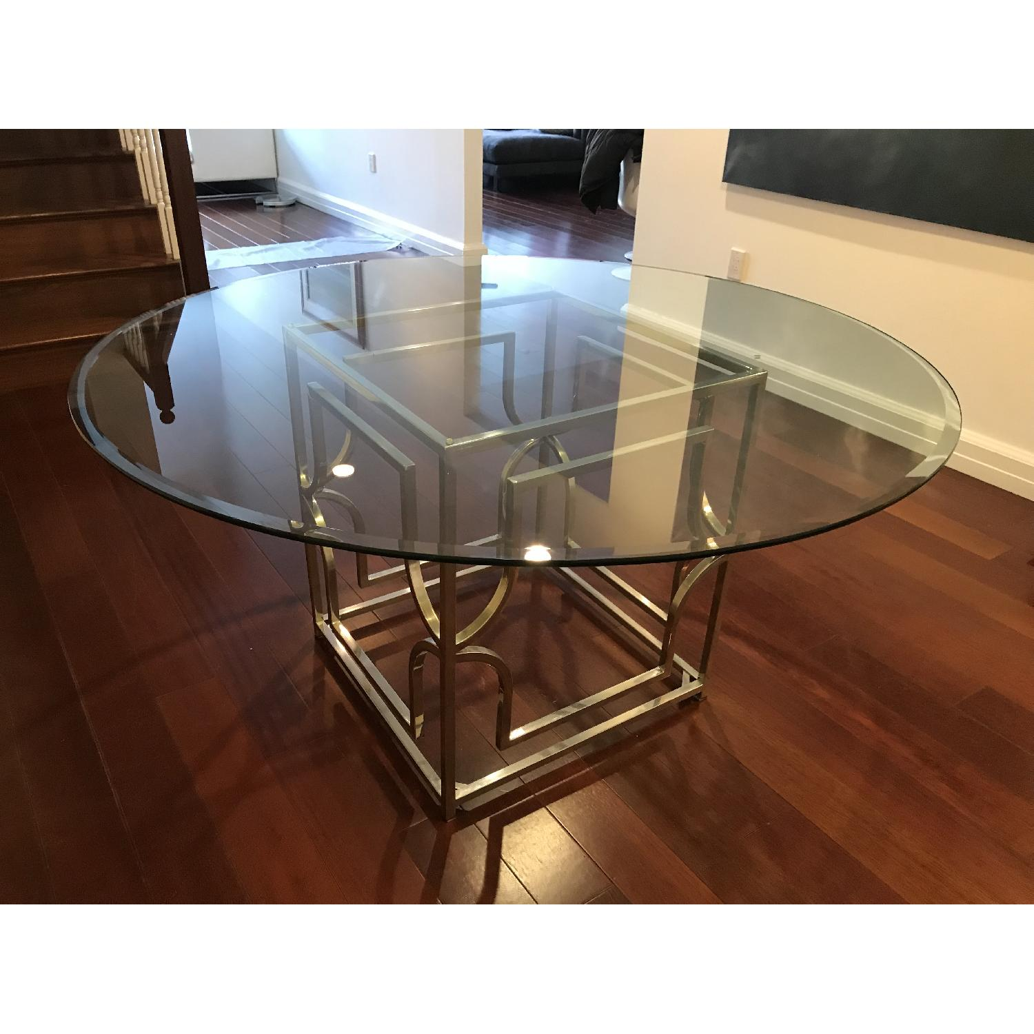 Z Gallerie Glass amp Chrome Dining Table AptDeco : 1500 1500 frame 0 from www.aptdeco.com size 1500 x 1500 jpeg 170kB