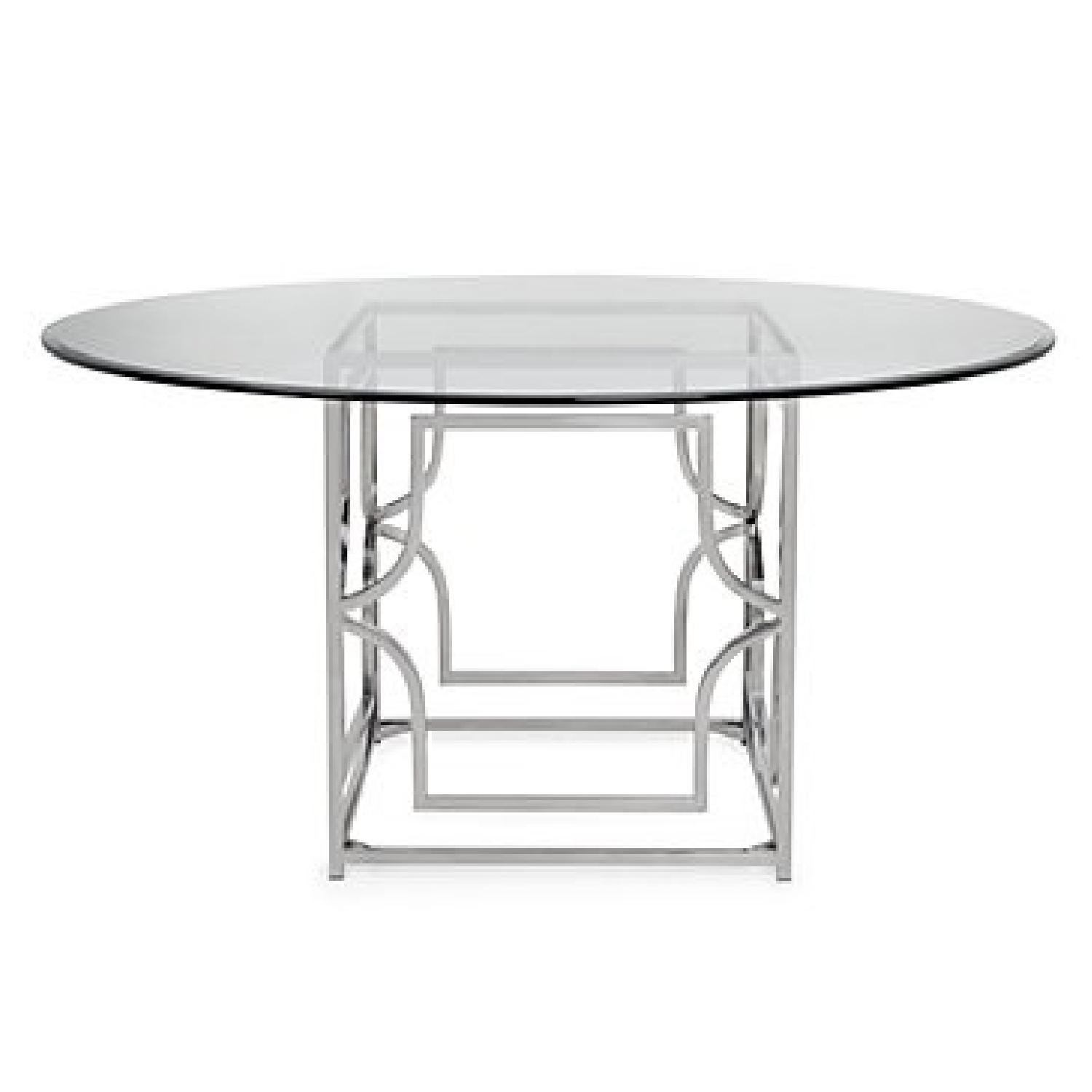 Z Gallerie Glass amp Chrome Dining Table AptDeco : 1500 1500 frame 0 from www.aptdeco.com size 1500 x 1500 jpeg 84kB