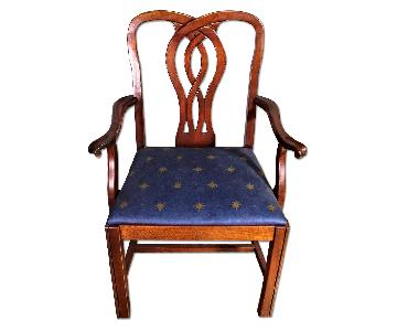 Chippendale Style Mahogany Side Accent Chair