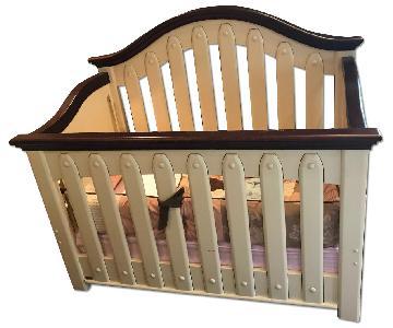 Natart Cottage Beige Brown Crib