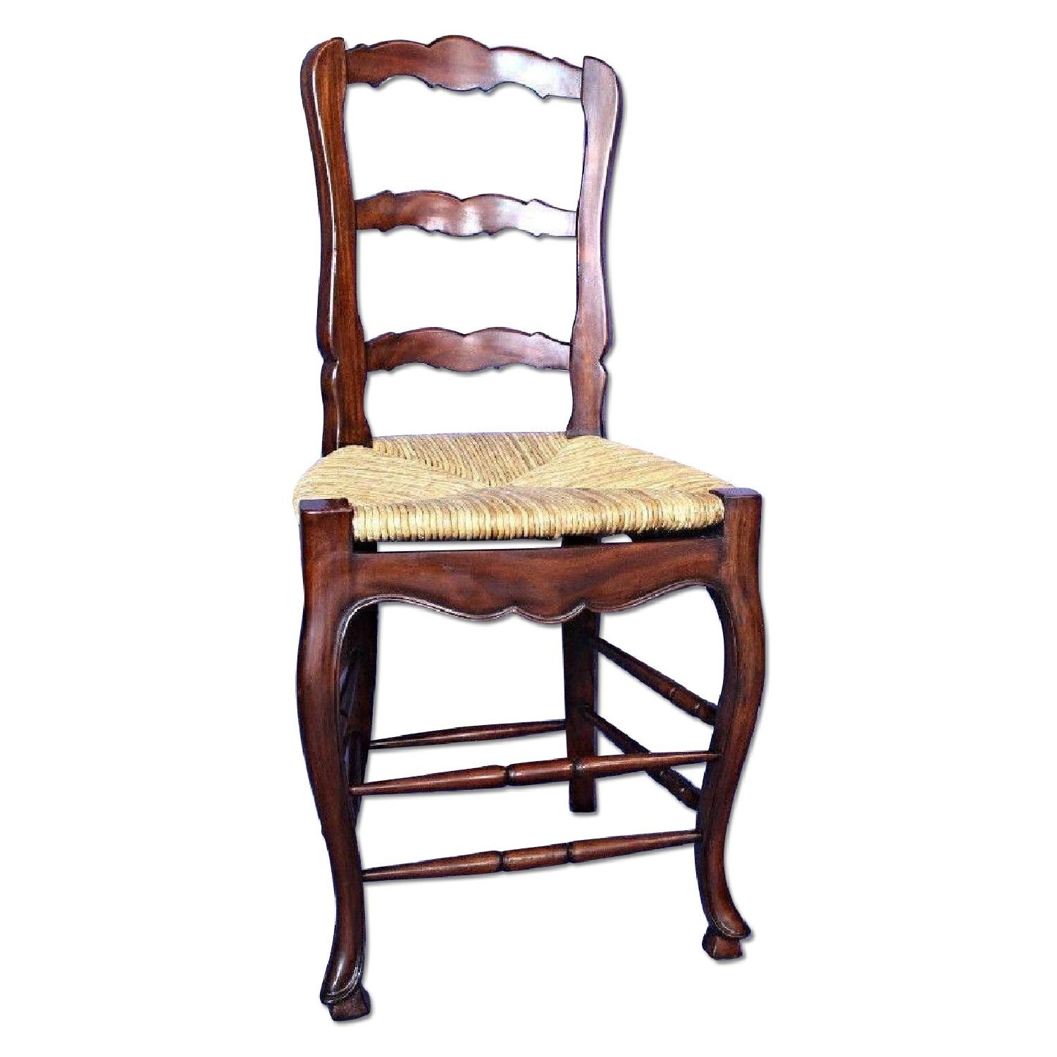 French Country Bar Counter Chair W Rush Seat Aptdeco