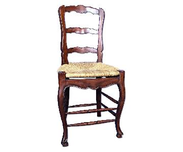 French Country Bar Counter Chair w/ Rush Seat