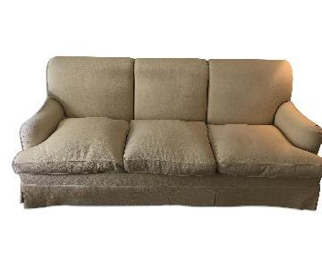 Bridgewater Style Custom Yellow Fabric Slipcovered Sofa
