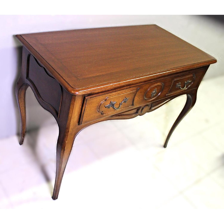 Louis XV French Provincial Mahogany Side End Table AptDeco