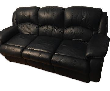 Dark Blue Reclining Couch