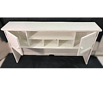 Mid Century Modern White Painted Console/Credenza