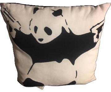 Banksy Throw Pillow