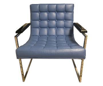 Milo Baughman Chrome & Leather Arm Chair