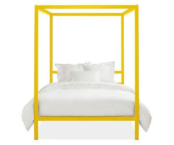 Room & Board Architecture Canopy Bed in Yellow