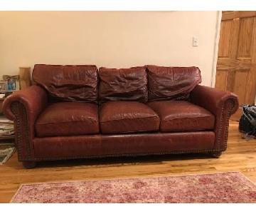 Cibola Furniture Internazionale Coffee Brown Leather Sofa
