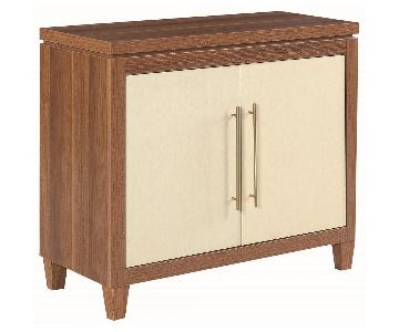 Mid-Century Inspired Modern Accent Cabinet in 2-Tone Finish