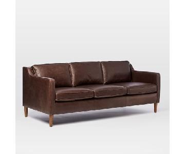 West Elm Hamilton Leather Sofa
