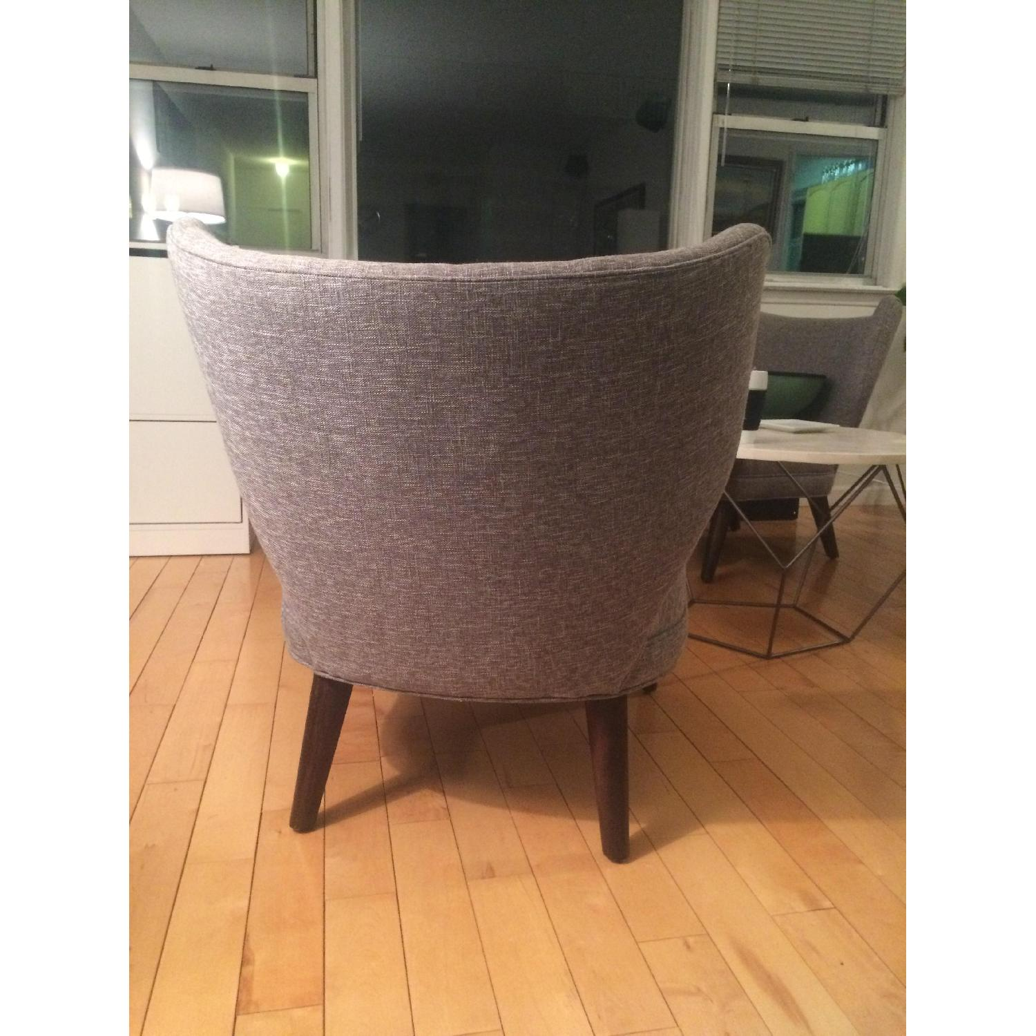 ... West Elm Retro Wing Chair In Grey 0 ...
