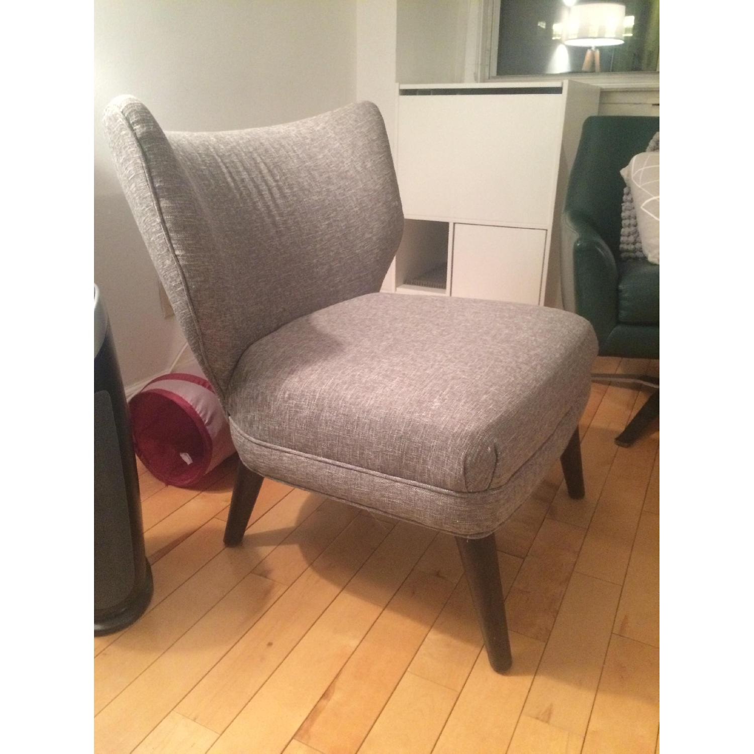 ... West Elm Retro Wing Chair In Grey 1 ...