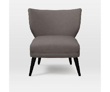 West Elm Retro Wing Chair in Grey