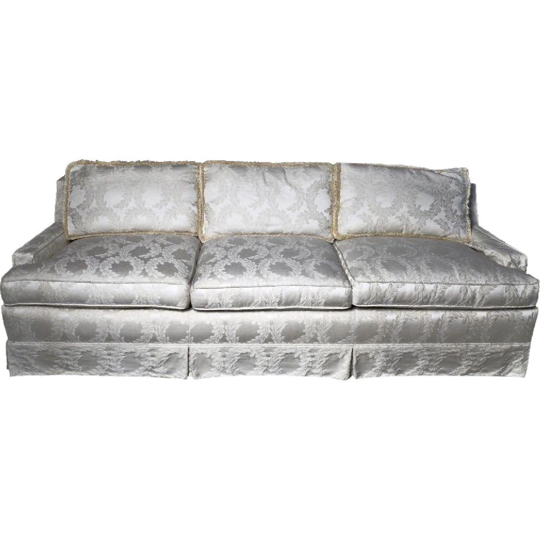 Vintage Ivory Upholstered Sofa
