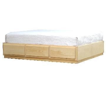 Gothic Cabinet Full Platform Storage Bed w/ Headboard