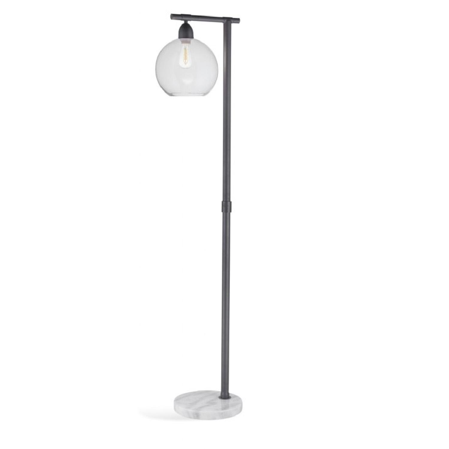 Bassett Hyde Glass Floor Lamp