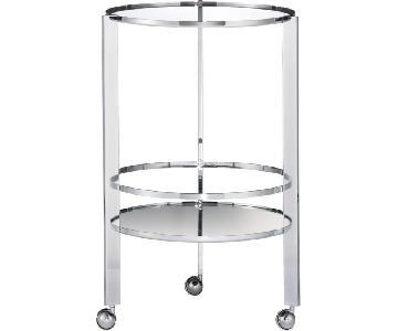 CB2 Retro Style Chrome/Glass Bar Cart