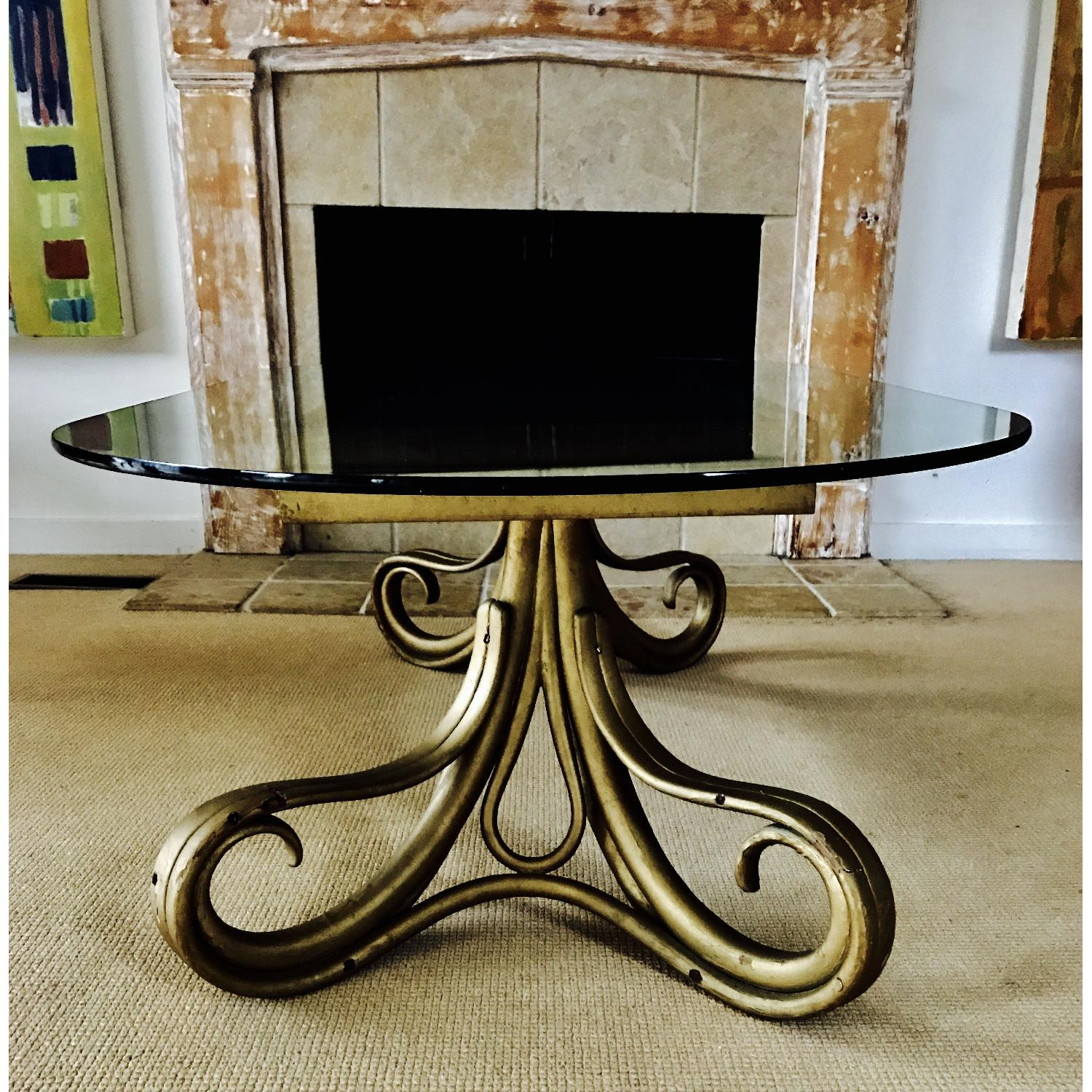 Vintage Thonet Bentwood Glass Top Coffee Table - image-3