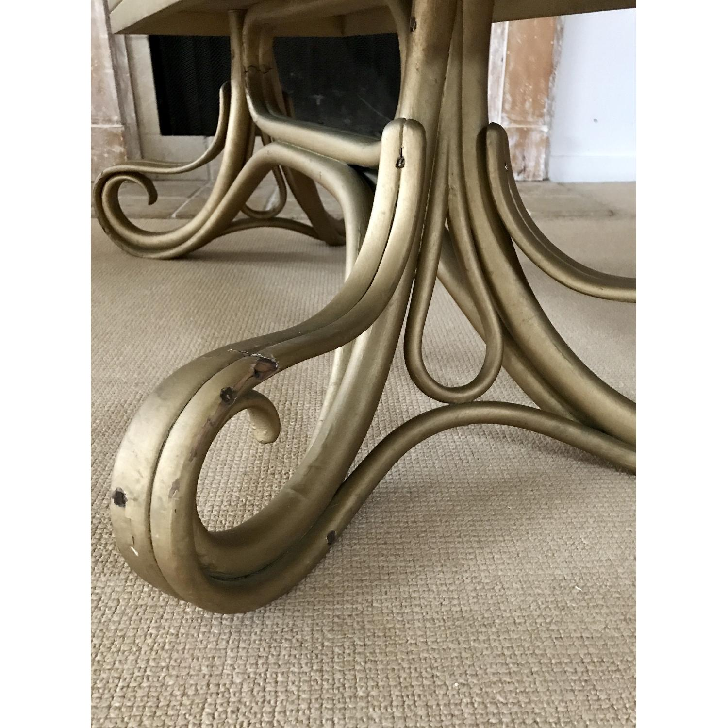 Vintage Thonet Bentwood Glass Top Coffee Table - image-4