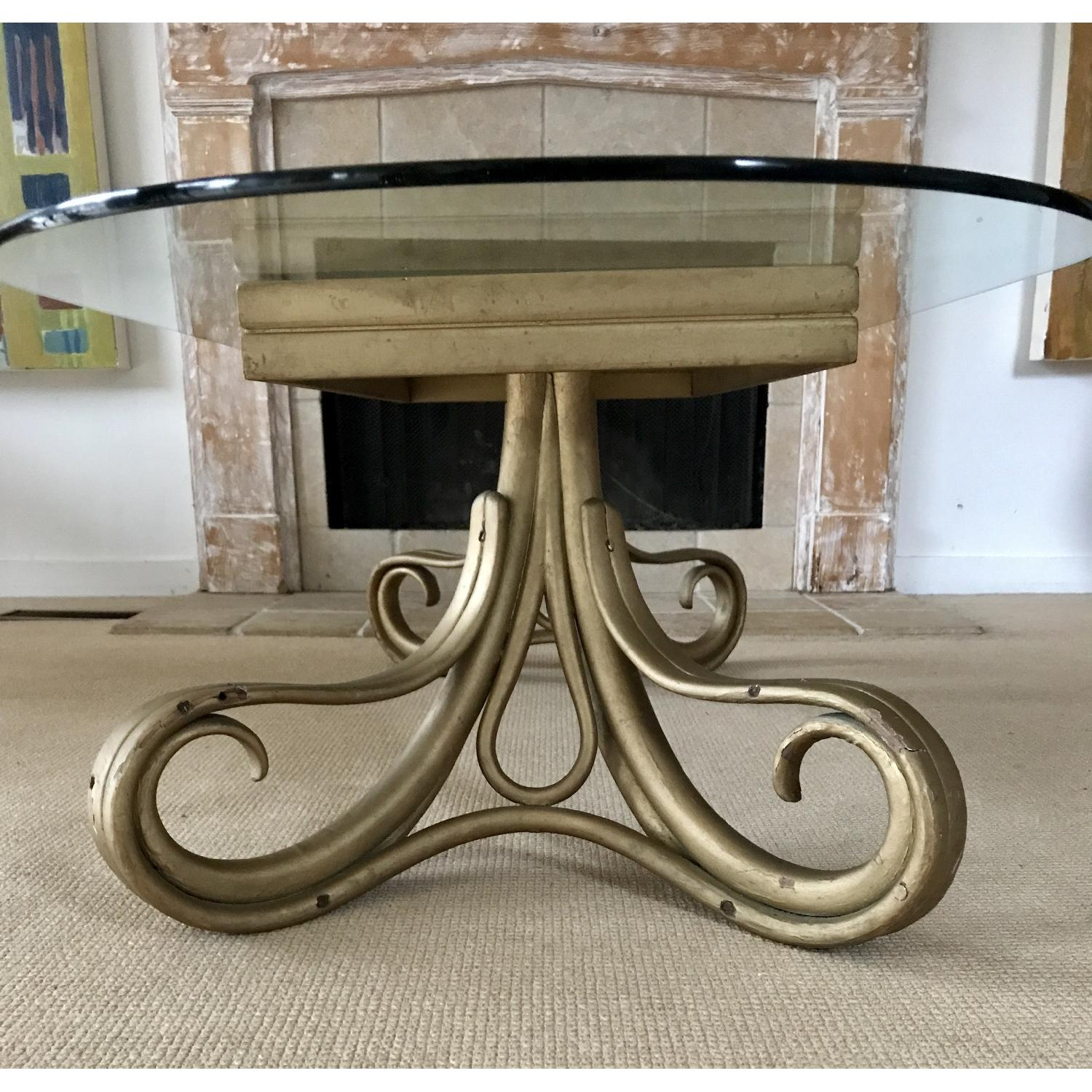Vintage Thonet Bentwood Glass Top Coffee Table - image-5