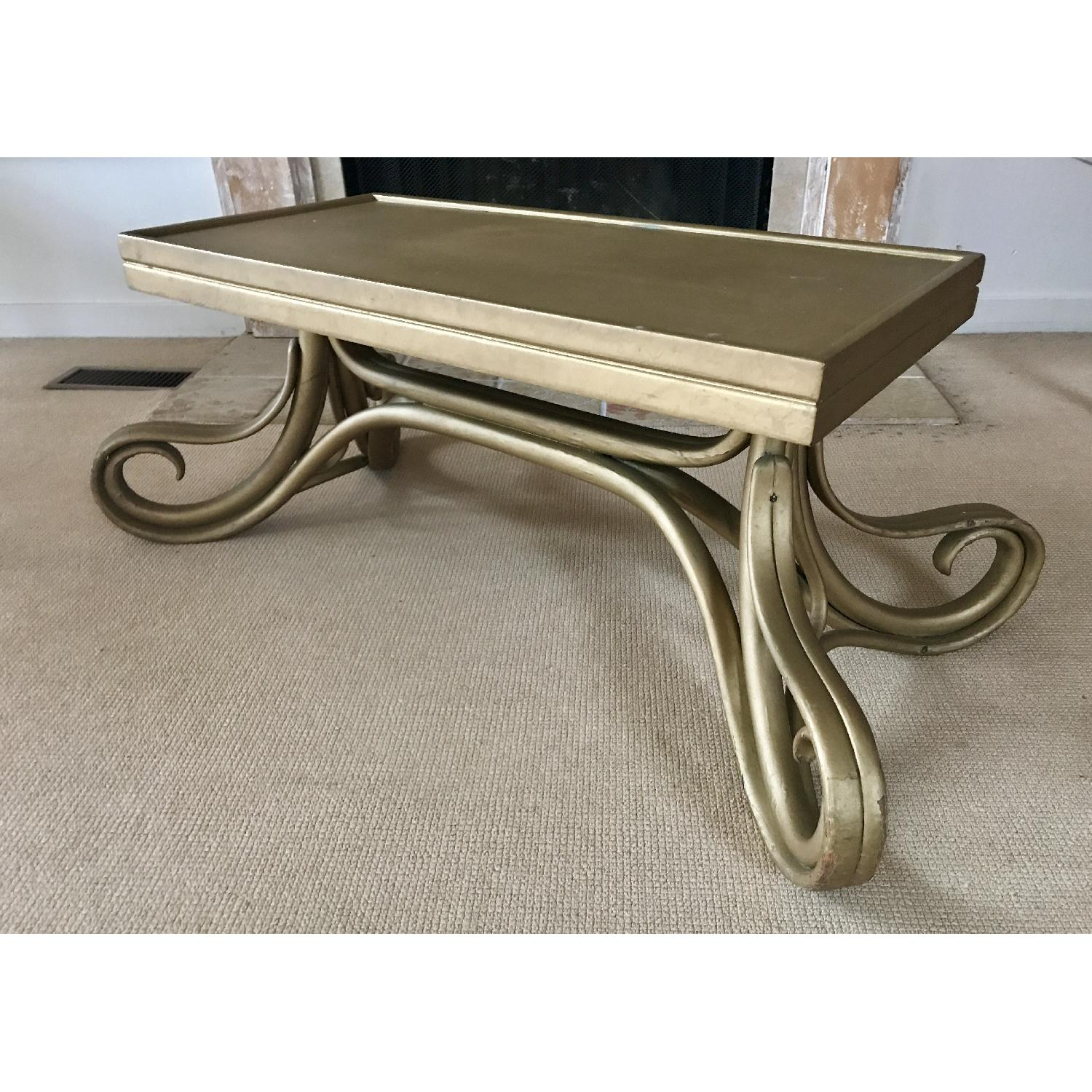Vintage Thonet Bentwood Glass Top Coffee Table - image-6