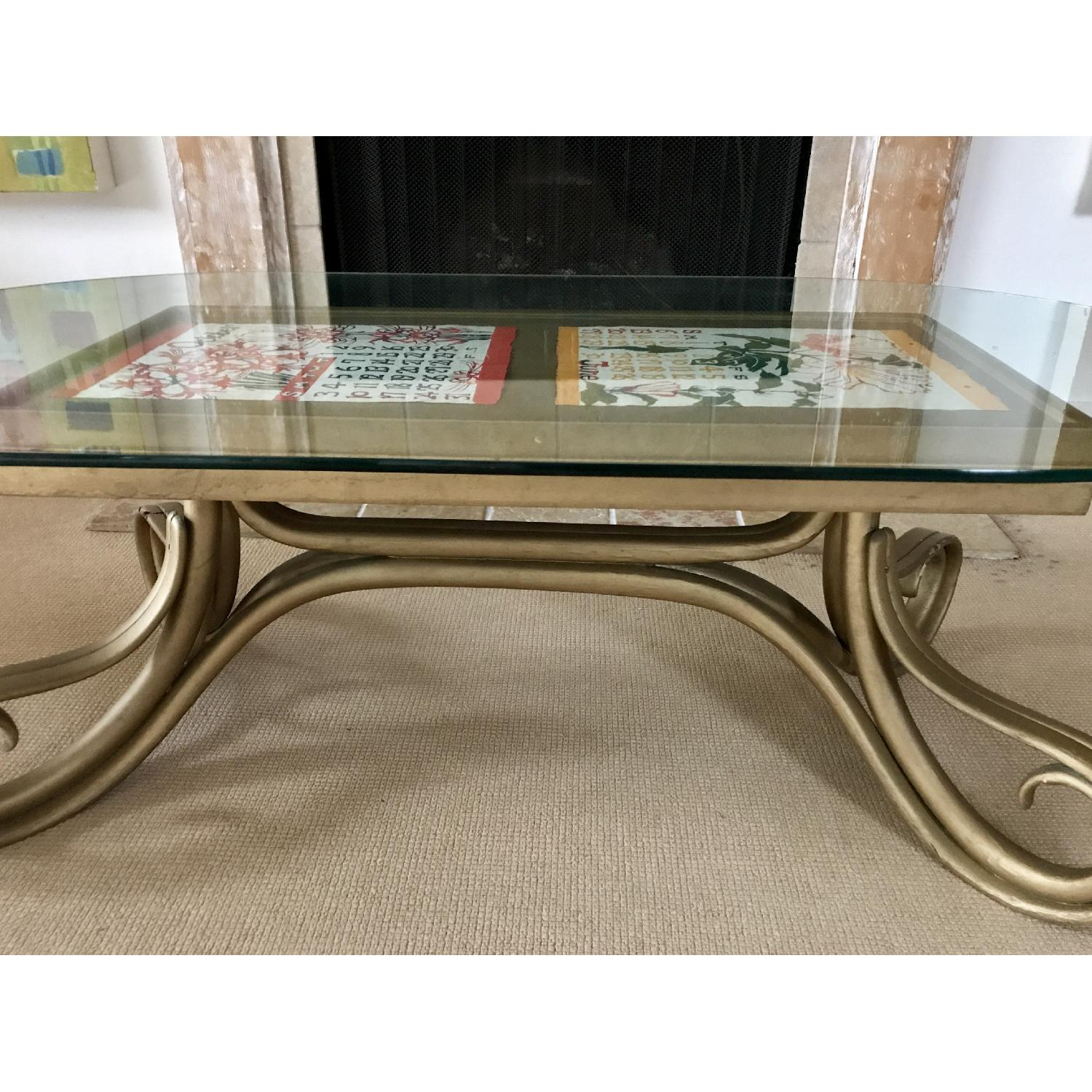 Vintage Thonet Bentwood Glass Top Coffee Table - image-10
