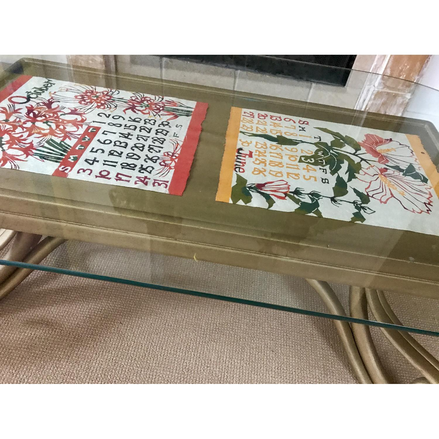 Vintage Thonet Bentwood Glass Top Coffee Table - image-11