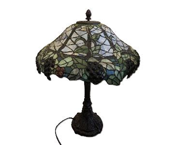 Tiffany Style Lamp w/ Plastic Shade