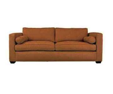 Kreiss Como Collection Tan Microsuede Sofa