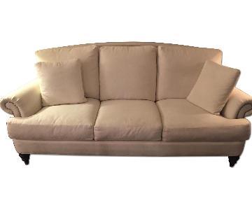 Ethan Allen White Sofa