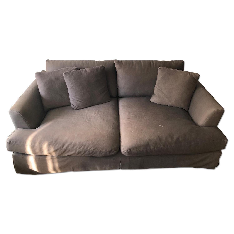ABC Carpet And Home Grey Slipcover Deep Sofa AptDeco