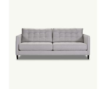 Younger Furniture Grey Tufted Sofa & Ottoman
