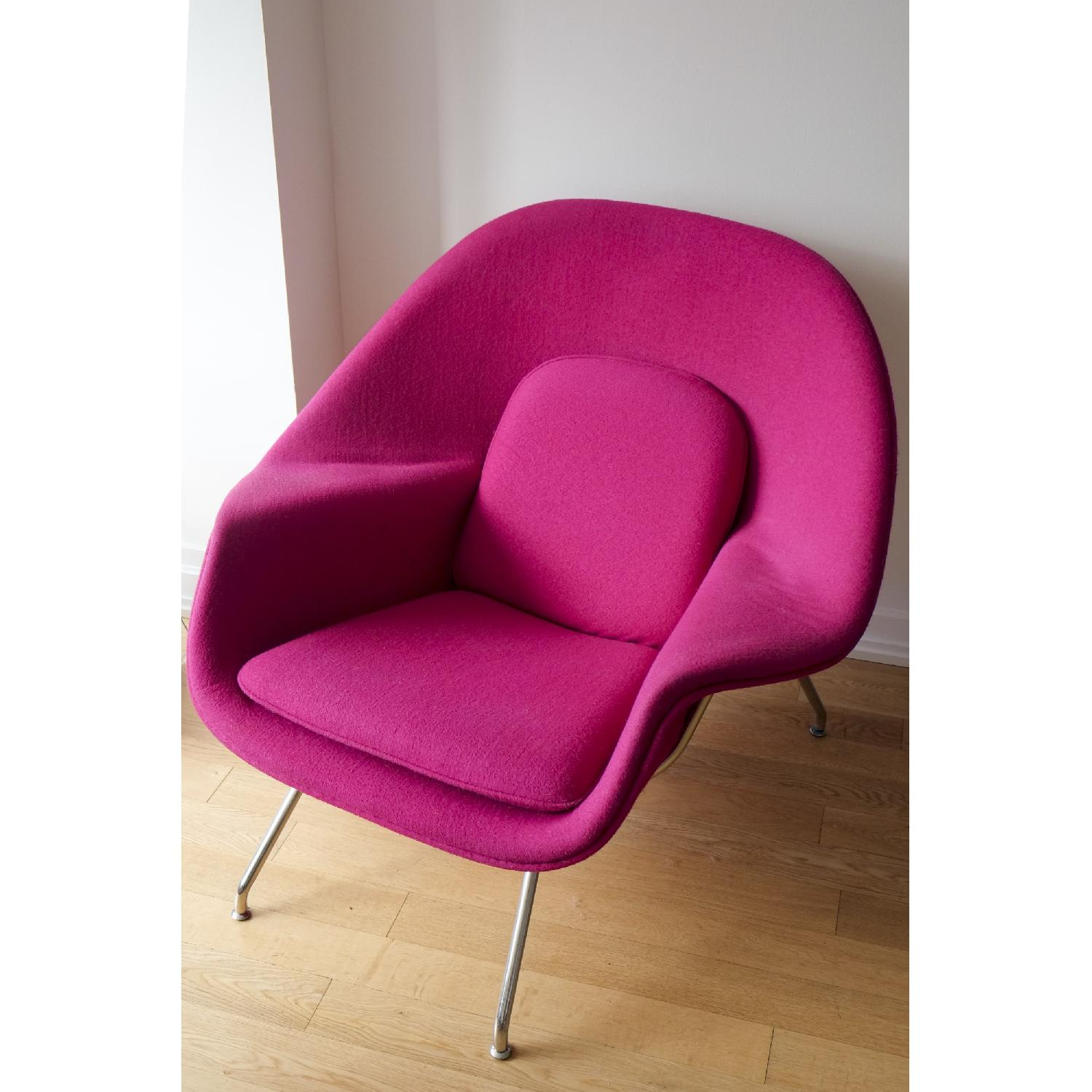 Rove concepts retro modern womb lounge chair ottoman aptdeco - Vintage womb chair for sale ...