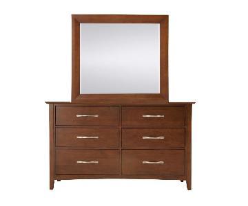 Raymour & Flanigan Everitt Bedroom Dresser w/ Mirror