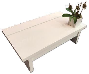 Jesper Office White Modern Coffee Table