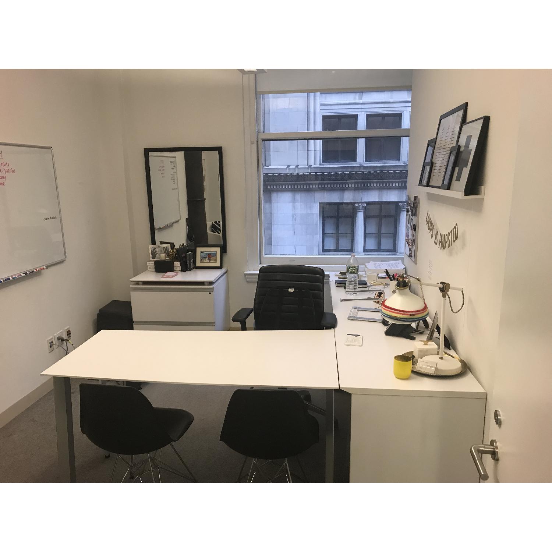 Jesper Office L Shaped Wrap Around Office Desk AptDeco