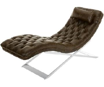 Safavieh Nampa Leather Chaise Lounge