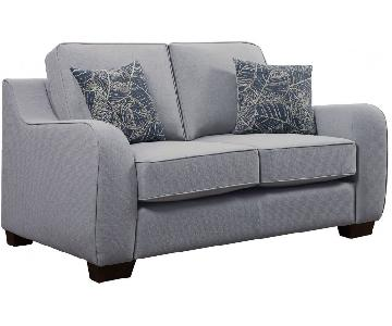 Astaire Love Seat in Cement