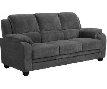 Coaster Fabric Sofa in Charcoal