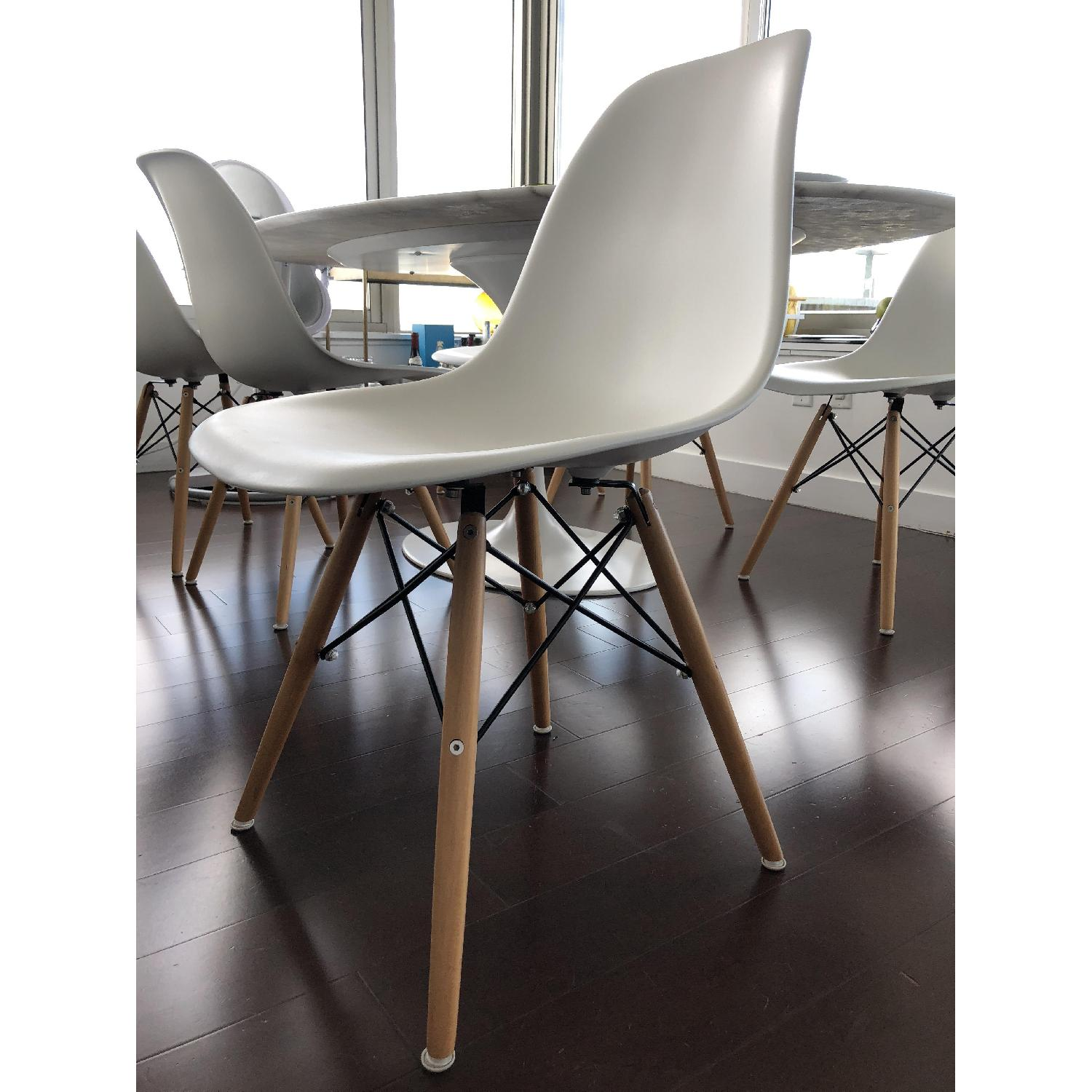 Langley Street Eames Style White Plastic Dining Chair