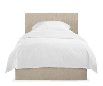 Room & Board Wyatt Suede Twin Bed Frame