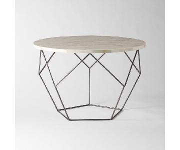 West Elm Bone Inlay Origami Medium Table